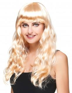 Wellige Langhaarperücke für Damen blond
