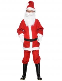 Kinderkostüm Weihnachtsmann rot-weiss