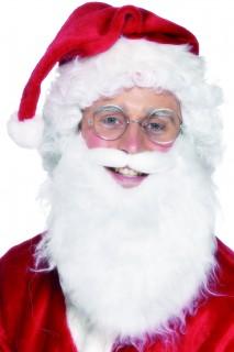 Weihnachtsmann Bart mit Schnurrbart weiss
