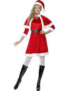 Nikoläusin Damenkostüm Weihnachten rot-weiss