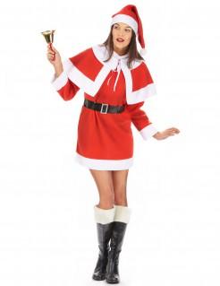 Miss Santa Weihnachtsfrau Damenkostüm rot-weiss