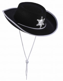Kinder Cowboyhut schwarz