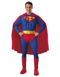 Superman Kostüm Superheld Lizenzware blau-rot