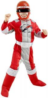 Power Rangers™ Kinderkostüm Lizenzware rot-silber