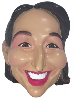 Ségolène Royal Comic-Maske bunt