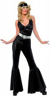 Siebziger Diva Kostüm schwarz