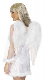 Engelsflügel mit Federn 63,5x50cm weiß