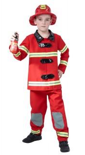 Feuerwehrmann Kinderkostüm rot-gelb