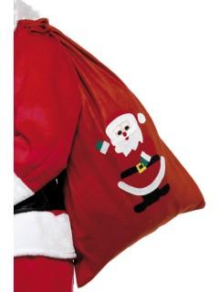 Nikolaus Sack Weihnachten rot-weiss-schwarz