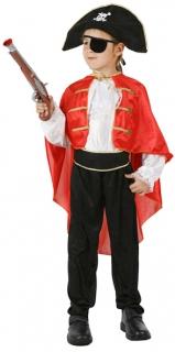 Piraten Kinderkostüm rot-weiss-schwarz