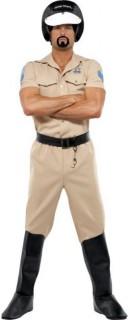 Polizisten-Herrenkostüm Village People Polizist beige-schwarz