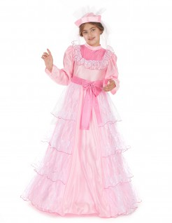 Prinzessinnenkleid für Mädchen lang rosa