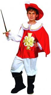 Musketier Kinder-Kostüm rot-gold-weiss