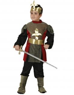 Edles Ritterkostüm für Kinder rot-gold-schwarz