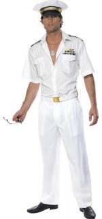 Pilot Herren-Kostüm Karneval weiss
