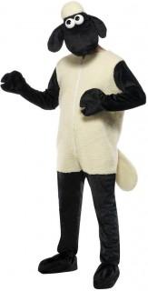 Shaun das Schaf Comic-Kostüm Lizenzware schwarz-beige