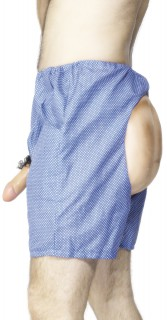 Exhibitionisten Unterhose blau-weiss
