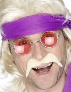 Pornobalken Bart Kostüm-Zubehör blond