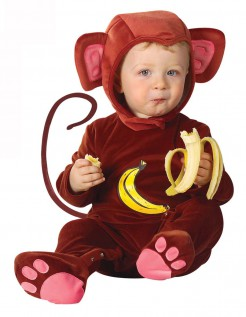 Kleiner Affe Babykostüm Schimpanse braun
