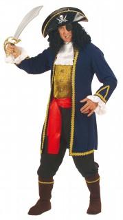 Ruhmreicher Pirat Karnevals-Kostüm blau-gold-rot