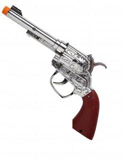 Cowboy-Pistole Western-Effektpistole silber-braun