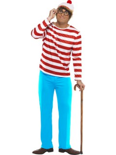 Wo ist Walter Kostüm Lizenzartikel rot-weiss-blau