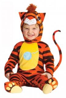 Tiger Babykostüm orange-schwarz-gelb