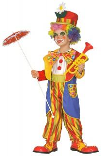 Kinderclownskostüm Karnevalskostüm bunt