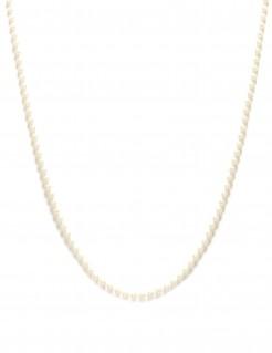 Lange Perlenkette Kostüm-Zubehör weiss
