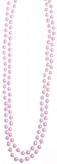 Elegante Perlenkette Kostüm-Schmuck rosa 110cm