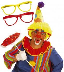 Riesige Clownsbrille Karneval gelb