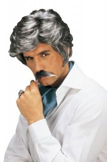 Gentleman Perücke Seitenscheitel grau