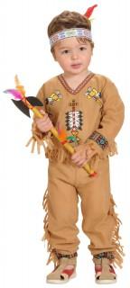 Indianer Western Kinderkostüm hellbraun-bunt