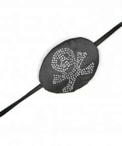 Piratin Augenklappe mit Strass schwarz