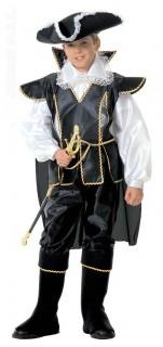 Piratenkapitän Kinderkostüm Seeräuber schwarz-weiss