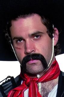 Cowboy Bart lang schwarz