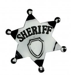 Wildwest Sheriff-Stern silber