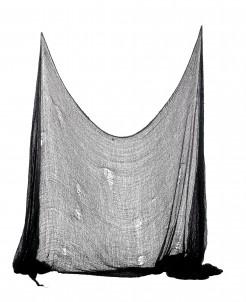 Halloween Deko-Fetzen-Tuch schwarz 75x300cm