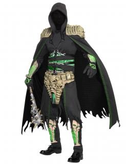 Sensenmann Seelen Räuber Halloween-Kostüm schwarz-grün