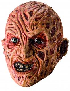 Freddy Krueger Halloween-Maske Lizenzartikel beige-rot