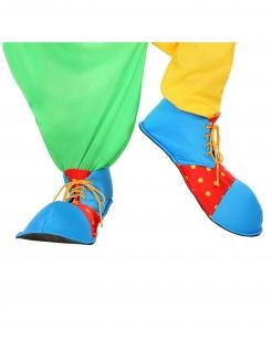 Grosse Clownschuhe Kostümzubehör blau-rot