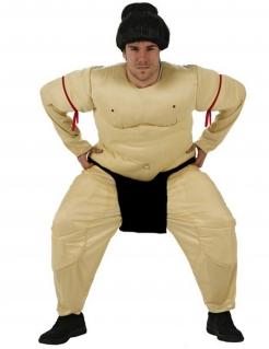 Herrenkostüm Sumo-Ringer - hautfarben