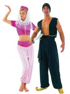 Paar-Kostüm - Orientzauber 1001 Nacht - Pink/Rosa/Schwarz/Gold