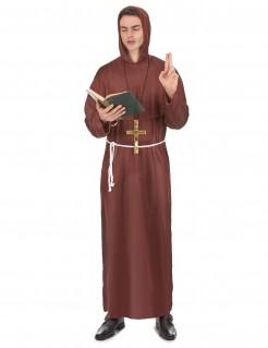 Bibeltreuer Prediger Kostüm Mönch braun-beige