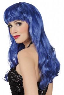 Meerjungfrau Langhaarperücke für Damen blau