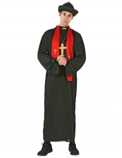 Herrenkostüm Priester schwarz