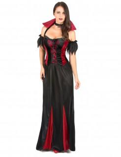 Verführerische Vampirin Damenkostüm schwarz-rot