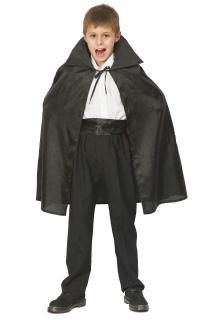 Vampirumhang Halloween Cape für Kinder schwarz