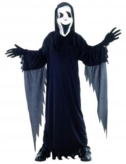 Geister-Kinderkostüm Halloweenkostüm schwarz-weiss