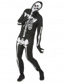 Halloween Skelettkostüm für Herren schwarz-weiss